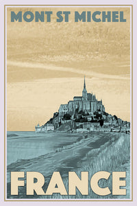 Retro poster of MONT ST MICHEL - FRANCE - Buy a poster online