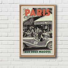 Load image into Gallery viewer, Framed poster of PARIS DEUX MAGOTS