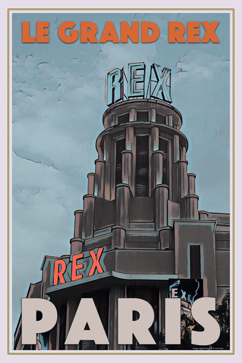 Retro poster - GRAND REX - PARIS - affiche vintage