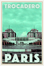 Load image into Gallery viewer, TROCADERO  - Vintage travel poster of Paris