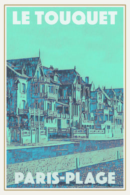 LE TOUQUET PARIS-PLAGE  - Vintage travel poster