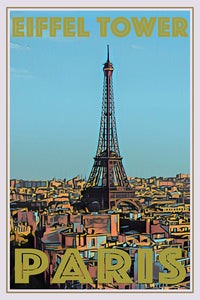 VIEW OF PARIS - vintage travel poster -  buy paris poster