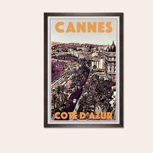 Load image into Gallery viewer, Framed poster Cannes Promenade des Anglais 2 - Art Print Cannes