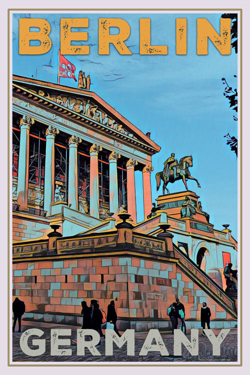 vintage poster of national gallery Berlin - Retro Poster