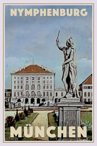 Poster NYMPHENBURG MUNCHEN - Vintage travel poster of Germany