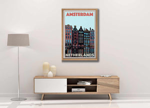 Dutch Boho Decor - Art Print Amsterdam