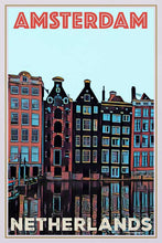Load image into Gallery viewer, Vintage poster Amsterdam 3 - Retro Poster Netherlands Art Print