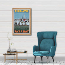 Load image into Gallery viewer, Vintage Art Print Reykjavic Faxa Bay - Retro poster of Iceland