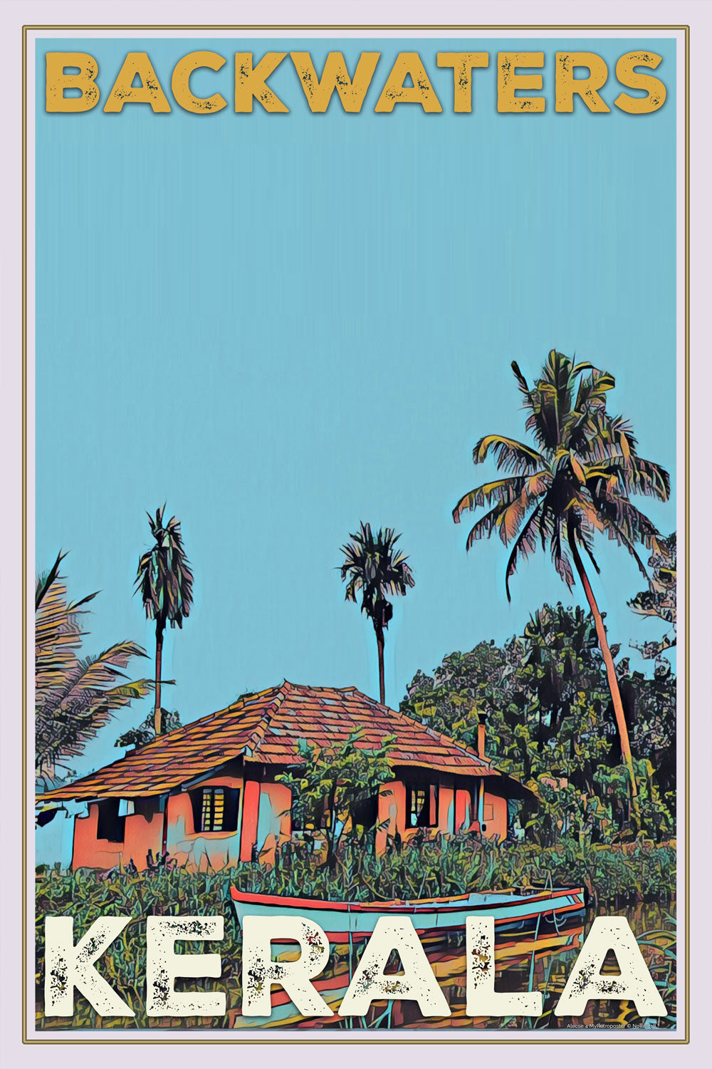 Affiche du Kerala Backwaters House