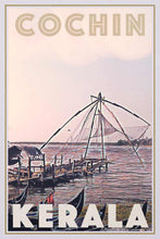 Load image into Gallery viewer, Vintage Poster Cochin Fishing Nets - Retro Art Print Kochi
