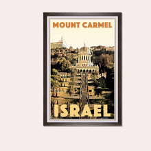 Load image into Gallery viewer, Framed poster Mount Carmel Haifa - Retro Art Print Israel