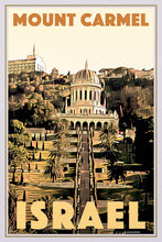 Load image into Gallery viewer, Vintage Travel poster Mount Carmel Haifa - Retro poster Israel