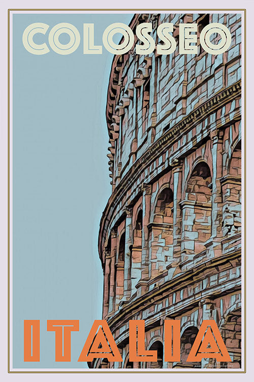 COLOSSEO  ROMA - Vintage travel poster