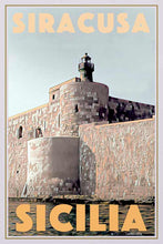 Load image into Gallery viewer, Vintage poster SIRACUSA FORT - Retro Poster Sicilia