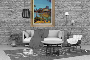 Bangkok decor with Lumphini Park Vintage poster