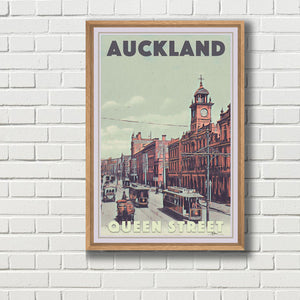 Framed Poster QUEEN STREET AUCKLAND  - New Zealand poster