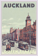 Load image into Gallery viewer, Vintage Poster QUEEN STREET AUCKLAND  - New Zealand poster