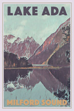 Load image into Gallery viewer, Vintage Poster LAKE ADA MILFORD SOUND - New Zealand poster