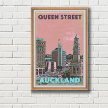 Load image into Gallery viewer, Framed Vintage Poster QUEEN STREET - AUCKLAND NZ