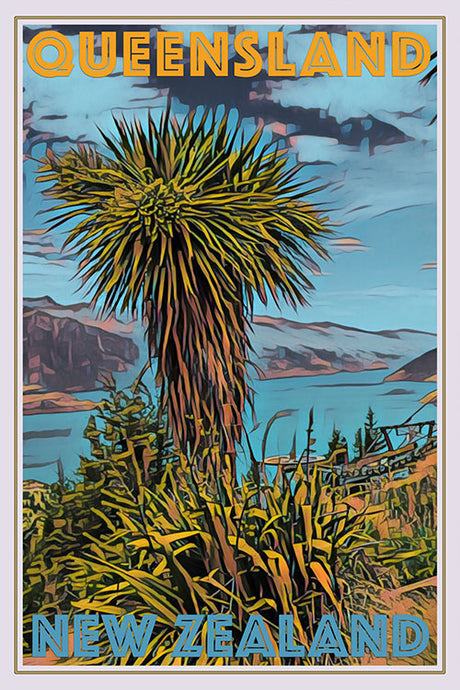 vintage poster of Queensland New Zealand