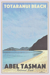 Vintage Poster TOTARANUI BEACH - ABEL TASMAN - New Zealand poster