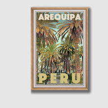 Load image into Gallery viewer, Framed Poster Arequipa Peru - Retro poster Peru