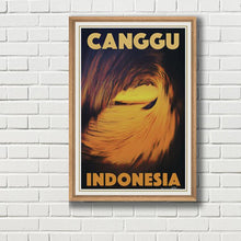 Load image into Gallery viewer, Framed Surf Poster  of CANGGU BALI by Alecse & PhotoBoss Bali
