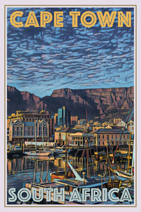 retro poster cape town south africa