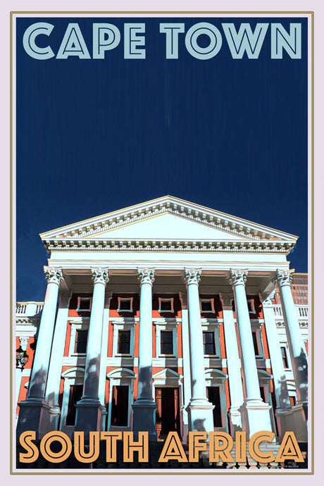retro poster opera cape town south africa