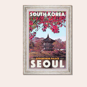 Framed poster Seoul Gyeongbok - Original Edition Poster South Korea
