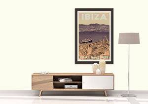 Bring a vintage touch from IBIZA in your interiorI - Vintage poster IBIZA CRUISES