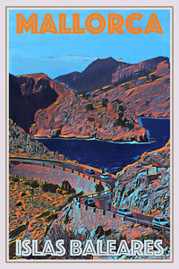 vintage poster panorama mallorca balear
