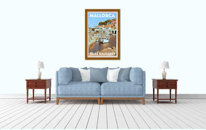 Vintage Holiday decor with Poster Port Mallorca - MyRetroposter