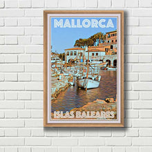 Load image into Gallery viewer, Framed Poster Port Mallorca - MyRetroposter