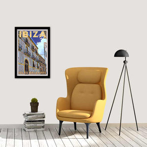 Boho decor with Ibiza Old Town Street Vintage Travel Poster- MyRetroposter