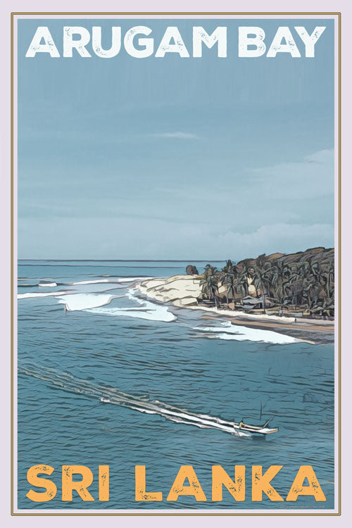vintage poster of arugam bay main point