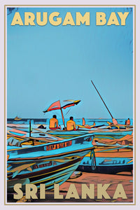 Retro poster - LIFEGUARDS ON DUTY - ARUGAM BAY - affiche vintage