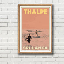 Load image into Gallery viewer, THALPE FISHERMAN - SRI LANKA - Vintage travel poster with frame