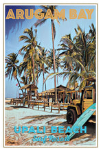 Load image into Gallery viewer, retro poster surf camp arugam bay sri lanka