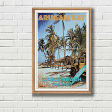Load image into Gallery viewer, Jeep Upali Beach - Vintage Surf Poster Arugam Bay