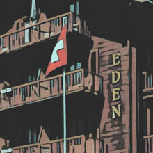 Load image into Gallery viewer, Details of Vintage poster VERBIER EDEN HOTEL
