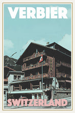 Load image into Gallery viewer, VERBIER EDEN HOTEL - Vintage travel poster
