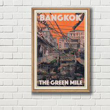 Load image into Gallery viewer, THE GREEN MILE - Vintage travel poster - BANGKOK