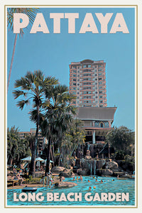 LONG BEACH GARDEN PATTAYA - Vintage travel poster