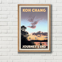 Load image into Gallery viewer, Framed JOURNEY'S END SUNSET - Vintage travel poster