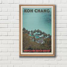 Load image into Gallery viewer, Framed vintage poster of WHITE SAND BEACH RESORT - Koh Chang