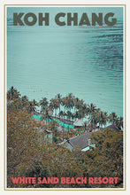 Load image into Gallery viewer, WHITE SAND BEACH RESORT - Vintage travel poster