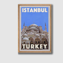 Load image into Gallery viewer, Framed poster Istanbul Blue - Retro Poster Turkey