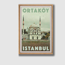 Load image into Gallery viewer, Framed poster Istanbul Ortakoy - Retro Poster Turkey