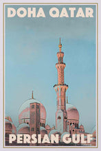 Load image into Gallery viewer, Vintage Poster Doha Qatar Mosque - Retro Poster Persian Gulf